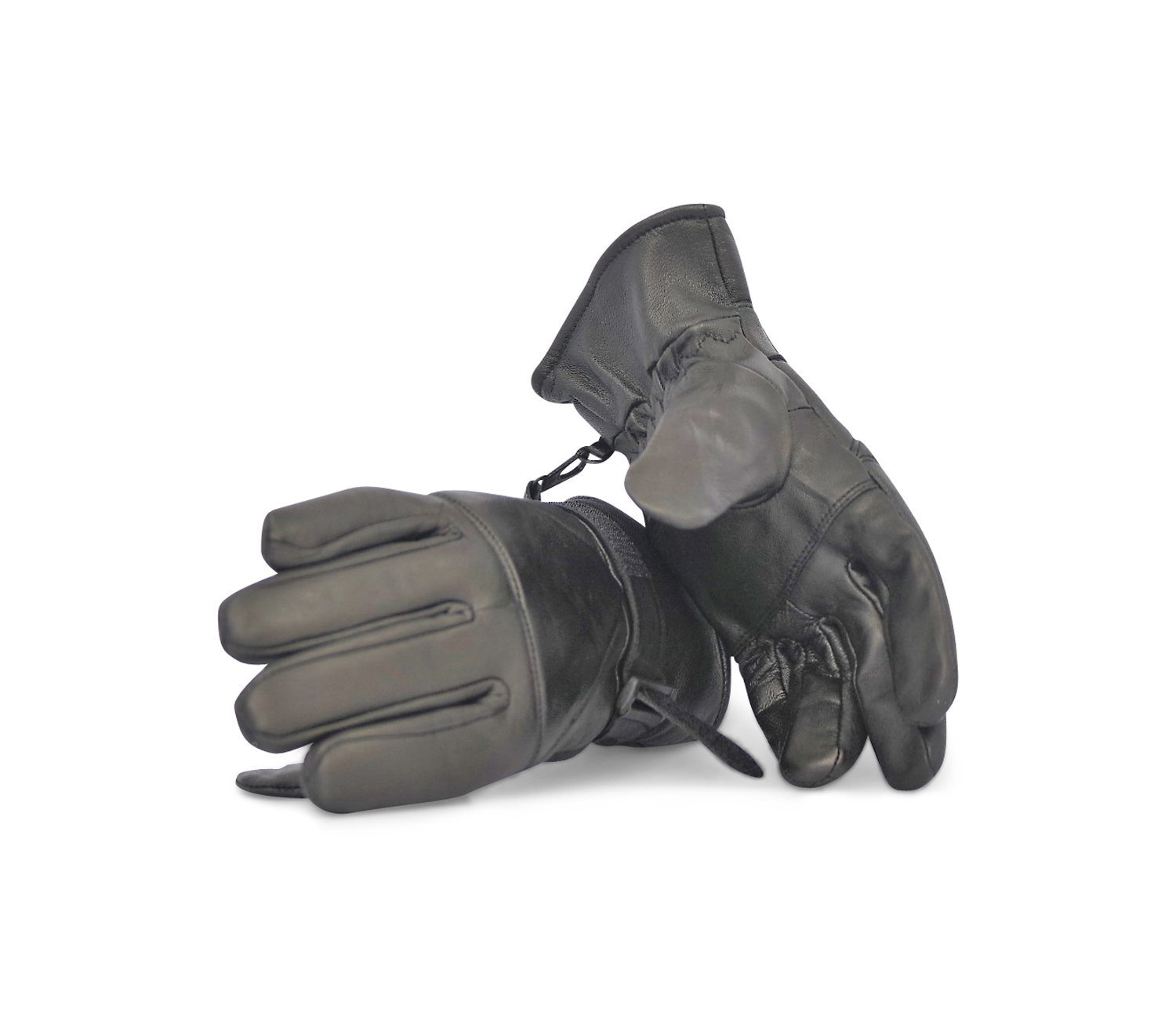 0c52d945439b6 Black Sheepskin Leather Gloves – Stay Warm – Look Stylish – Ultra  Comfortable Fleece Lining for Lasting Warmth