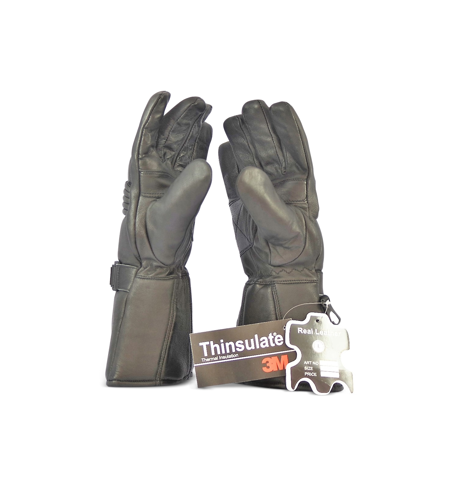 Insulated leather motorcycle gloves - Add To Wishlist Loading