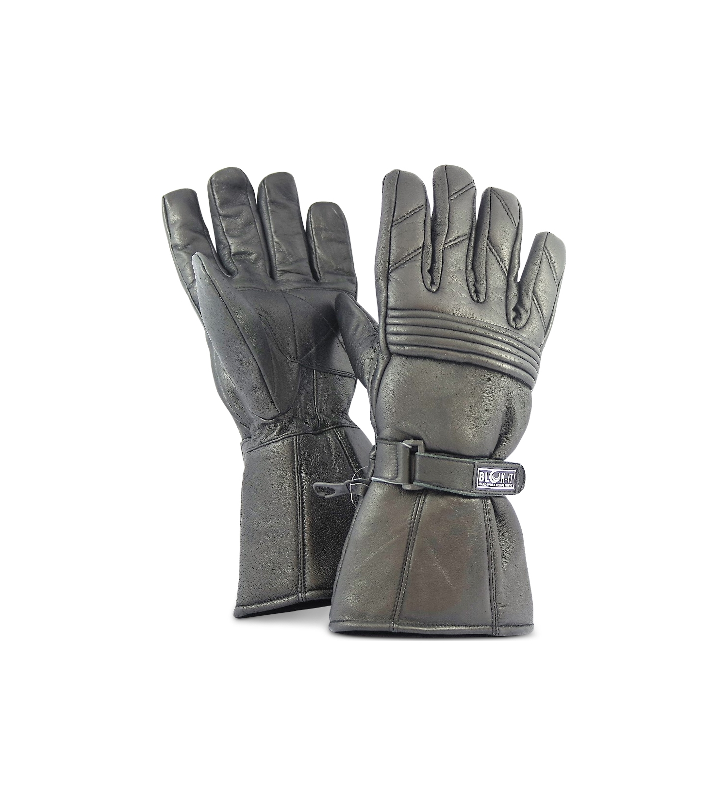 Jrc motorcycle gloves -  Full Leather Motorcycle Gloves By Blok It Gloves Are Waterproof